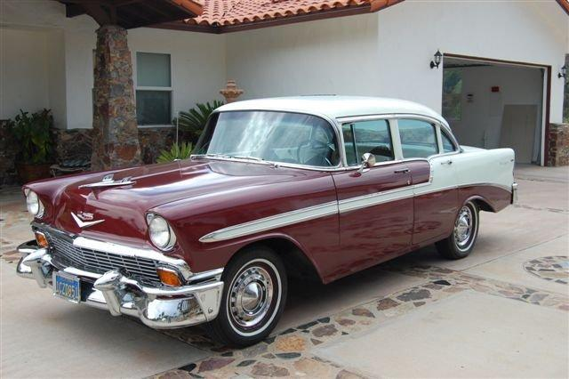 San diego antique car chauffeur company wedding classic for 1956 chevy 4 door